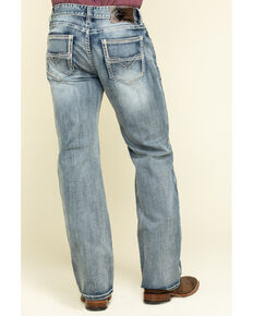 Rock & Roll Cowboy Men's Double Barrel Light Reflex Stretch Relaxed Straight Jeans , Blue, hi-res