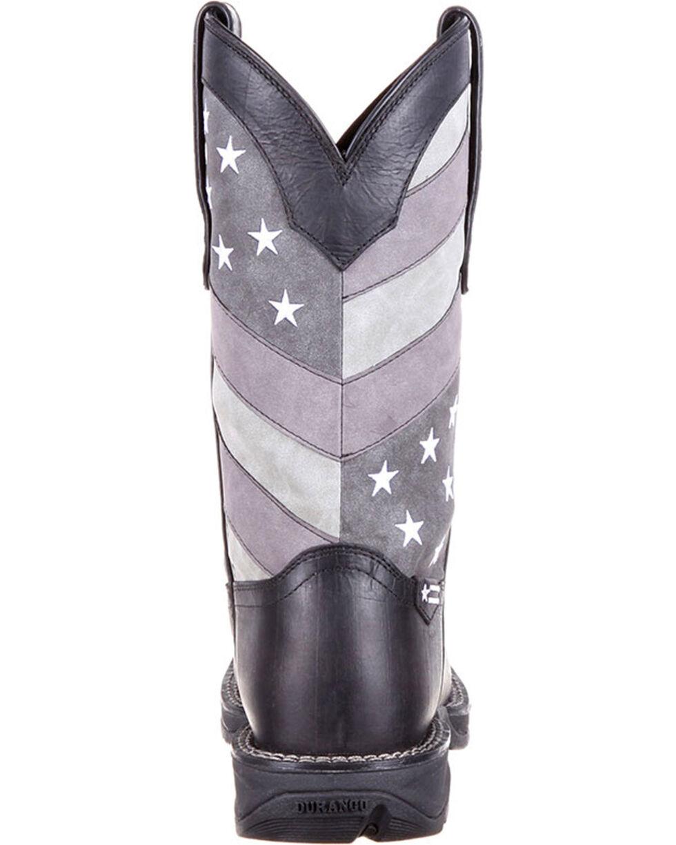 Durango Rebel Men's Faded Black Flag Western Boots - Square Toe , Black, hi-res