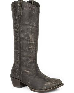 Roper Women's Brown Reba Western Boots - Round Toe , Brown, hi-res