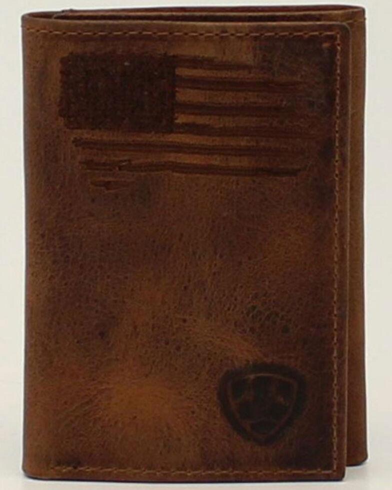 Ariat Men's USA Flag Trifold Wallet, No Color, hi-res