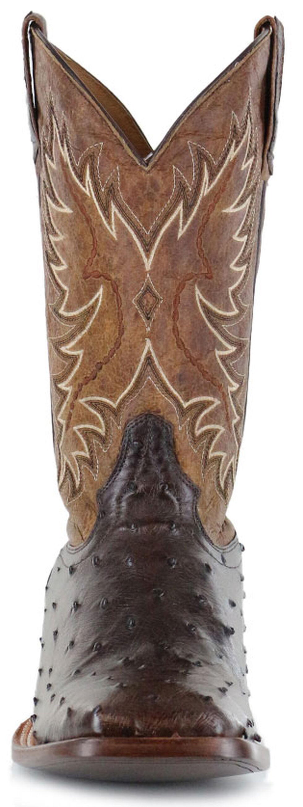 Cody James Men's Ostrich Tobacco Exotic Boots - Wide Square Toe , Tobacco, hi-res