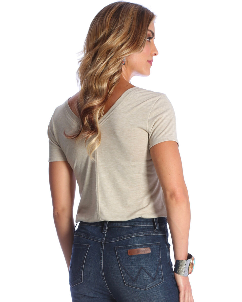 "Wrangler Women's Tan ""Herd That"" Graphic Tee , Tan, hi-res"