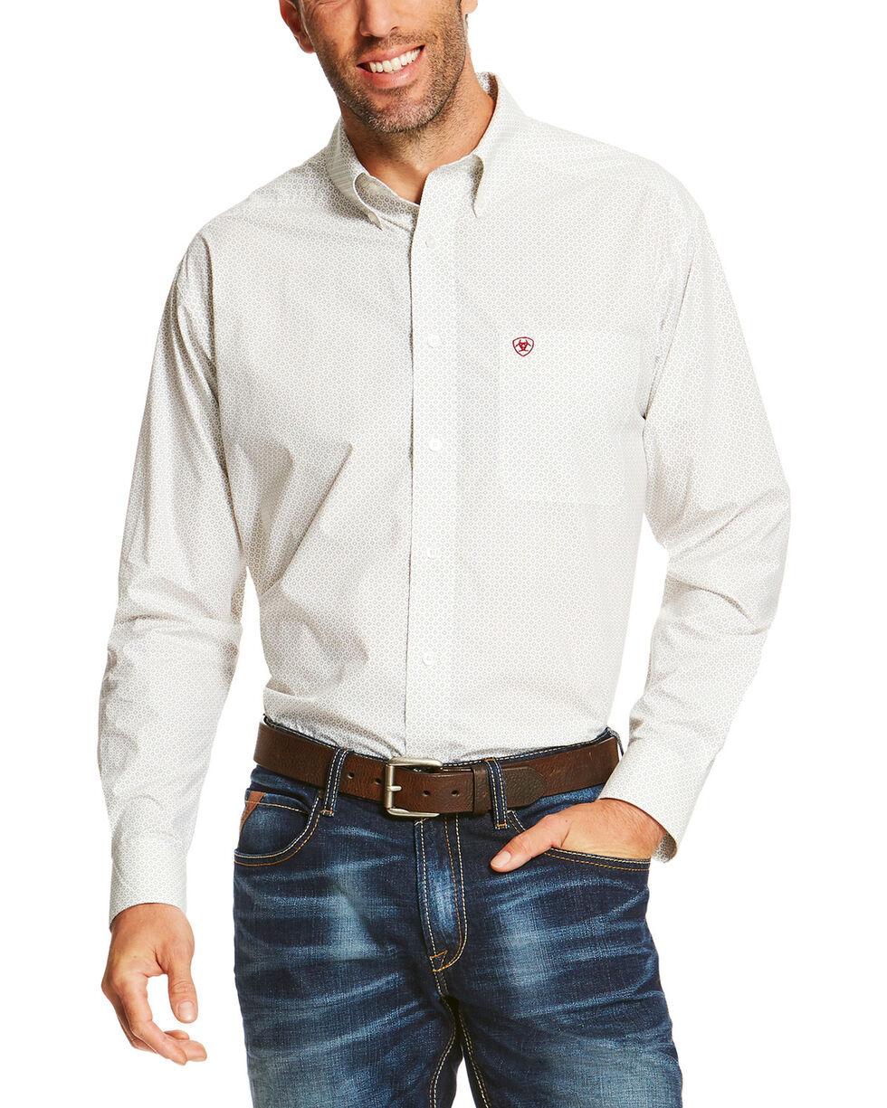 Ariat Men's White Silverado Long Sleeve Western Shirt , White, hi-res