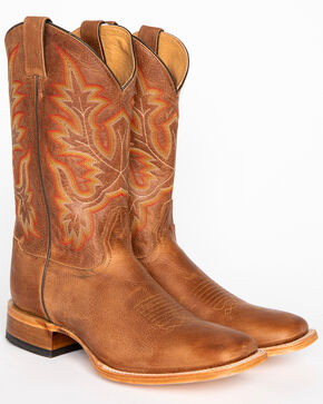 Cody James Men's Brown Stockman Cowboy Boots - Square Toe, Brown, hi-res