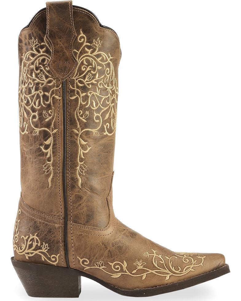 Laredo Jasmine Cowgirl Boots - Snip Toe , Taupe, hi-res