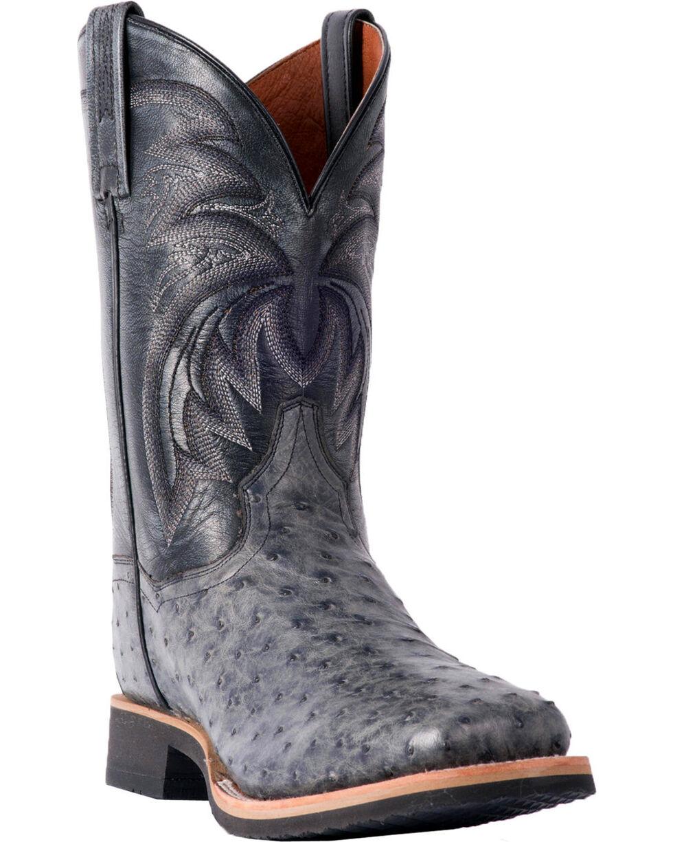 Dan Post Men's Philsgood Grey Full Quill Ostrich Boots - Square Toe, Grey, hi-res