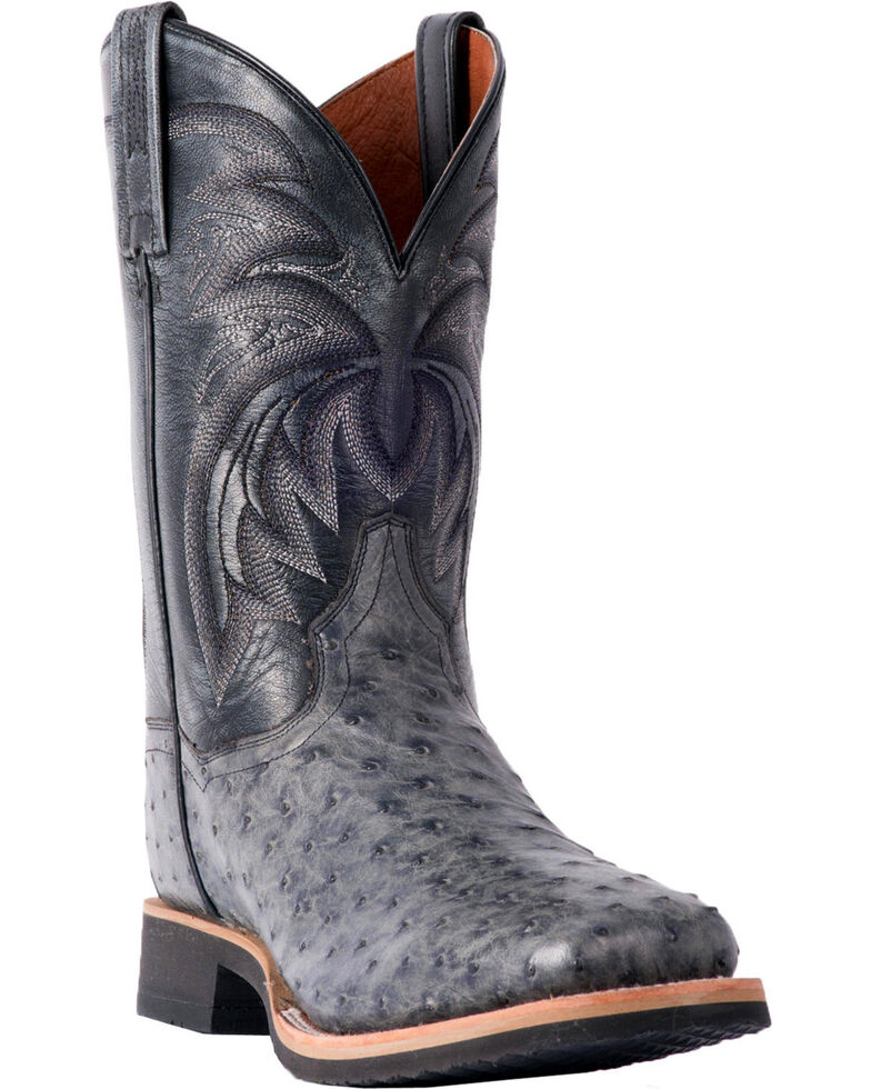 Dan Post Men S Philsgood Grey Full Quill Ostrich Boots