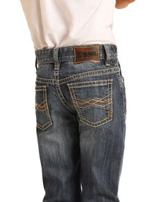 Rock & Roll Denim Boys' Vintage Reflex Stretch Classic Bootcut Jeans , Blue, hi-res