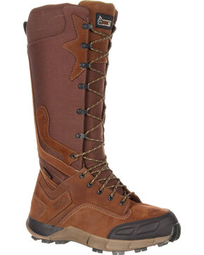 Rocky Men's Brown Broadhead Waterproof Trail Snake Boots - Round Toe , Brown, hi-res