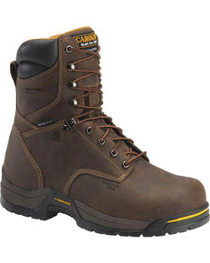 "Carolina Men's 8"" Waterproof Insulated Work Boots - Composite Toe, Brown, hi-res"