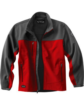 Dri Duck Men's Motion Softshell Jacket, Red, hi-res