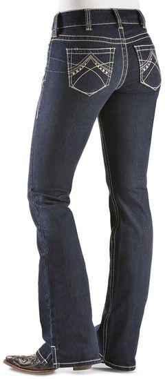 Ariat Women's Real Denim Eclipse Bootcut Riding Jeans, Dark Denim, hi-res
