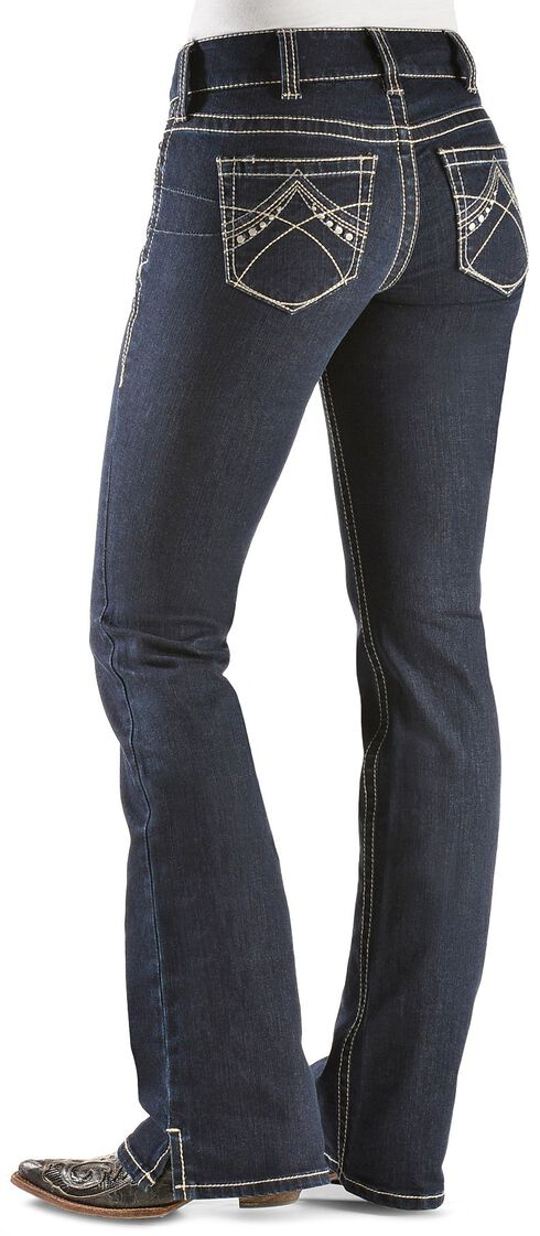 Ariat Women's Real Denim Eclipse Bootcut Riding Jeans, Dark Denim, hi-res