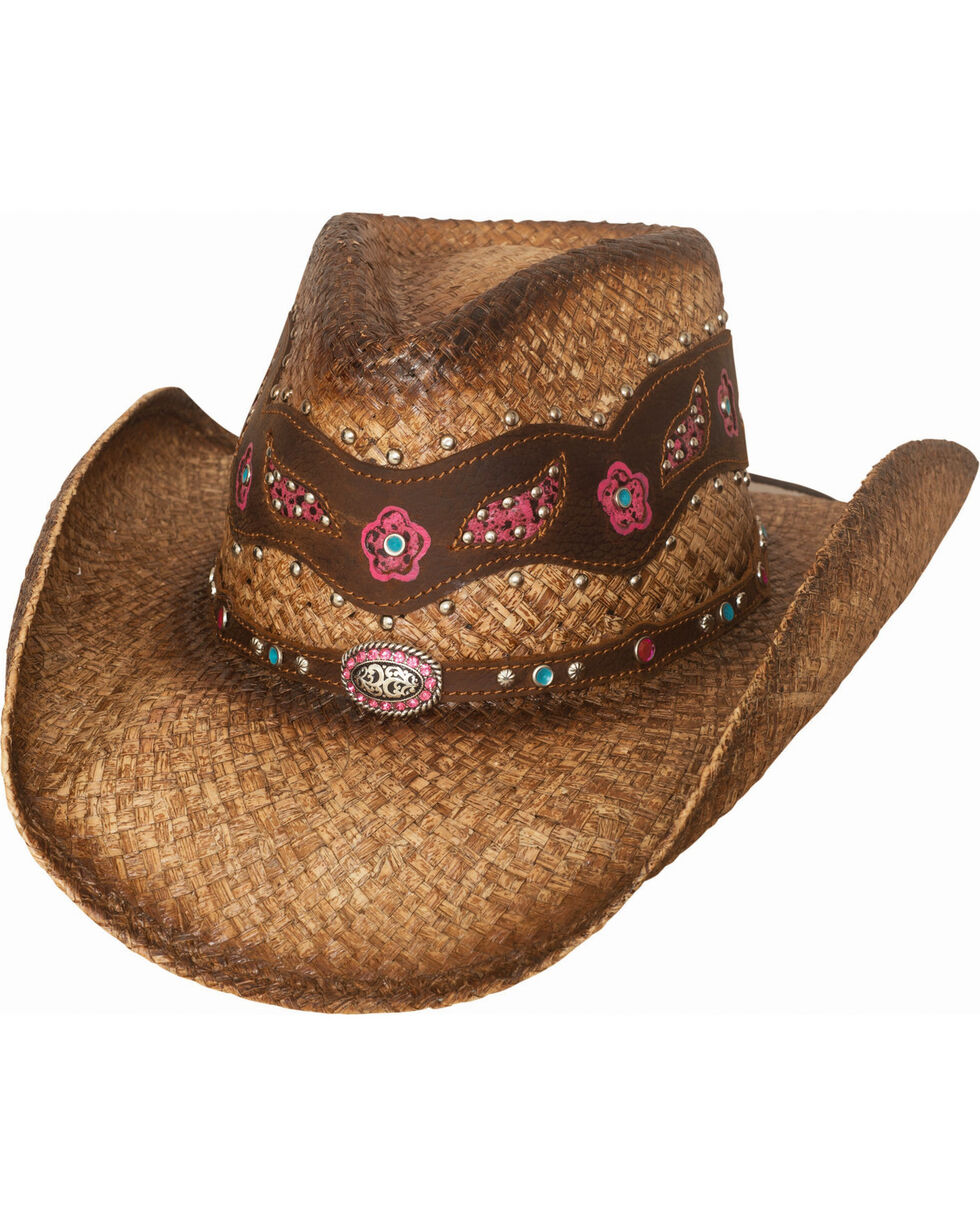 Bullhide Women's All In My Head Straw Hat , Natural, hi-res