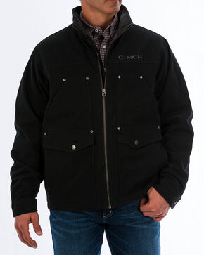 Cinch Men's Fleece Lined Canvas Concealed Carry Jacket, Black, hi-res