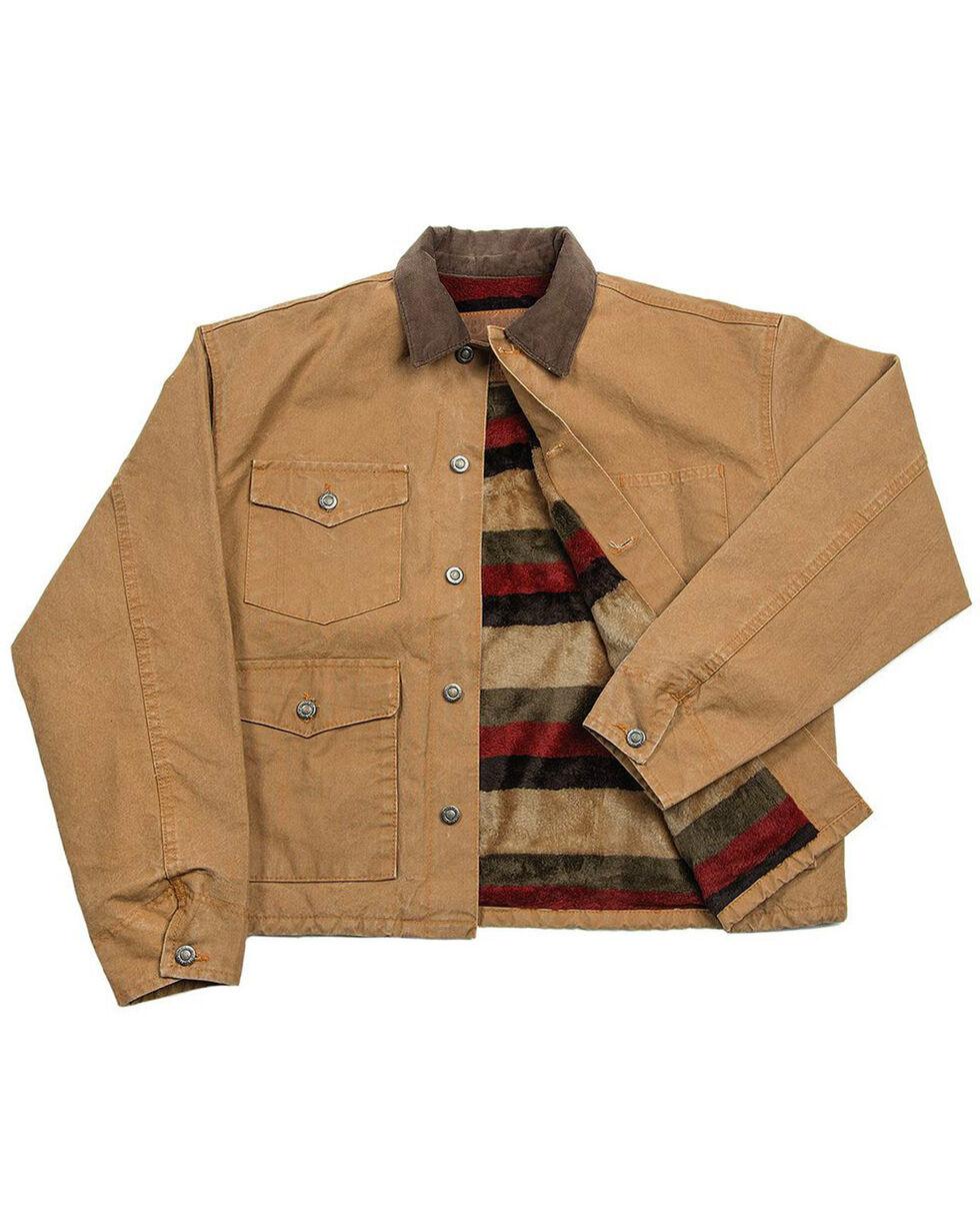 Schaefer Outfitter Men's Saddle Blanket Lined Vintage Brush Jacket - Big 3X, Brown, hi-res