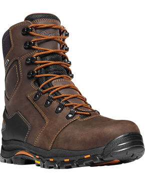 Danner Men's Vicious 8" Work Boots , Brown, hi-res