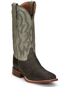 Justin Men's Mingus Grey Western Boots - Square Toe, Grey, hi-res
