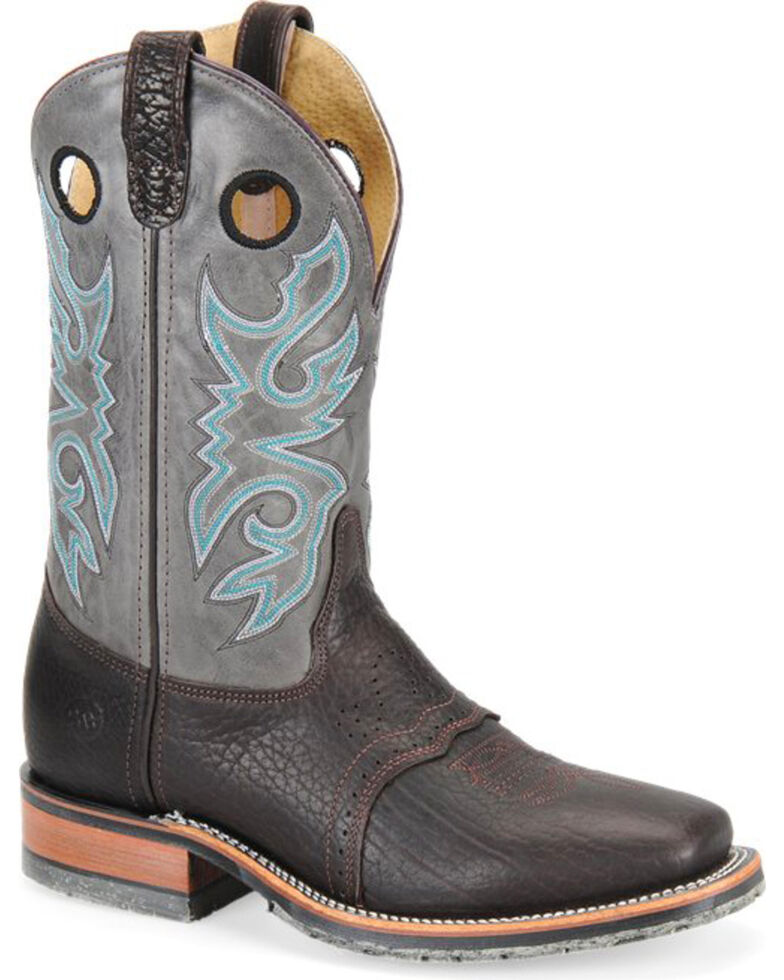 Double-H Men's Wide ICE Western Boots - Square Toe , Brown, hi-res