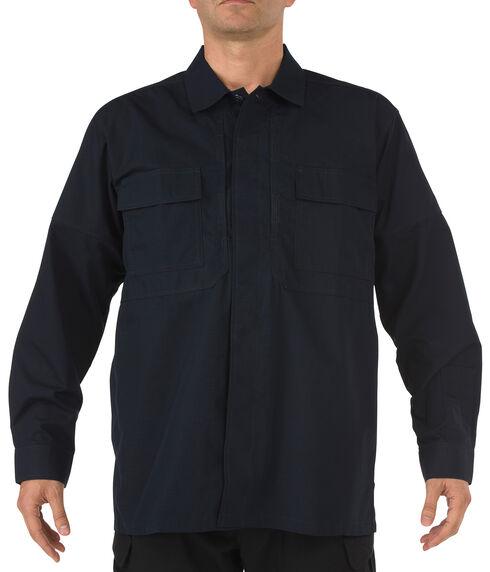 5.11 Tactical Ripstop TDU Long Sleeve Shirt - 3XL and 4XL, Navy, hi-res