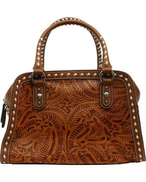 Blazin Roxx Floral Tooled Shoulder Bag, Tan, hi-res