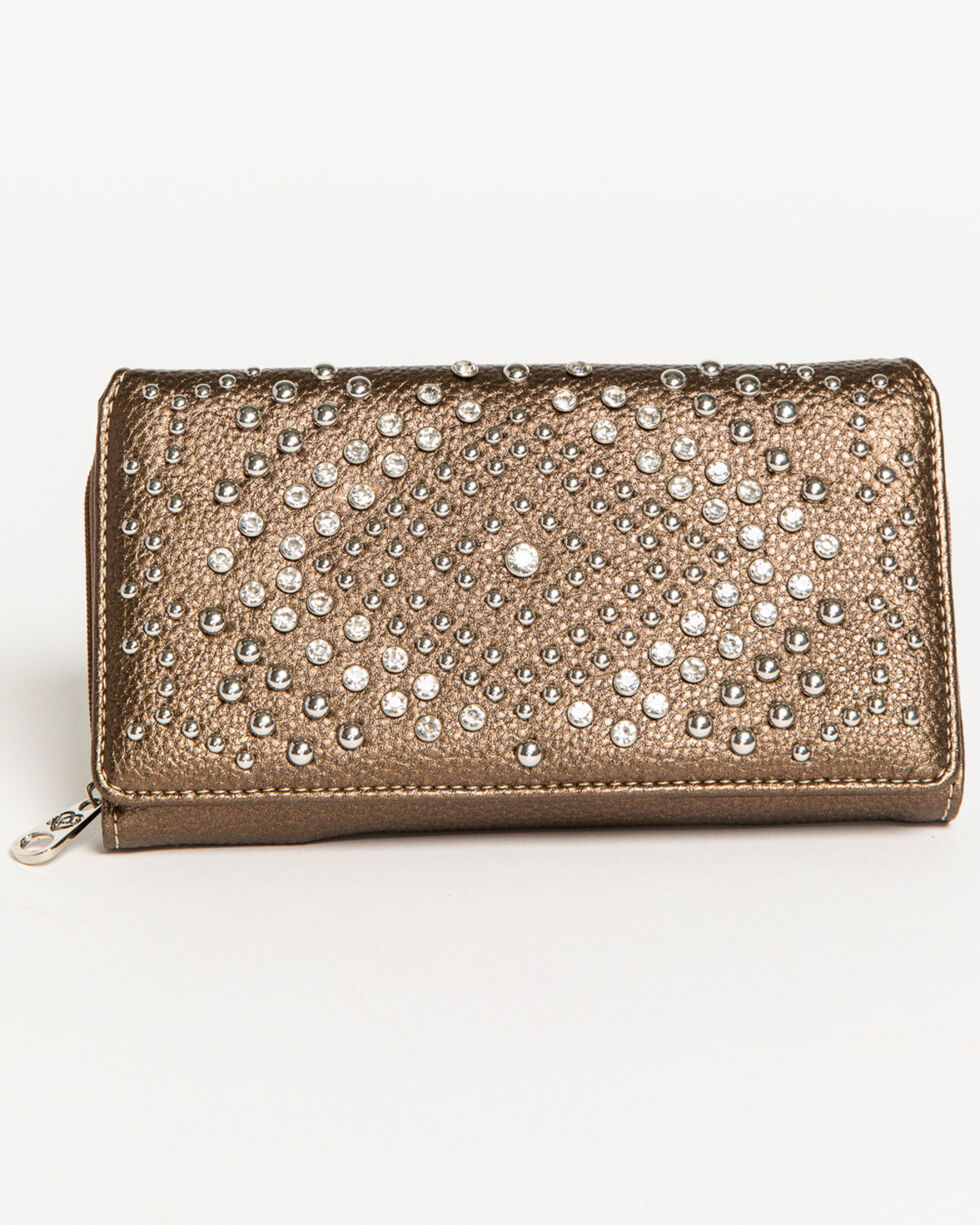 Shyanne Women's Metallic Bling Wallet , , hi-res