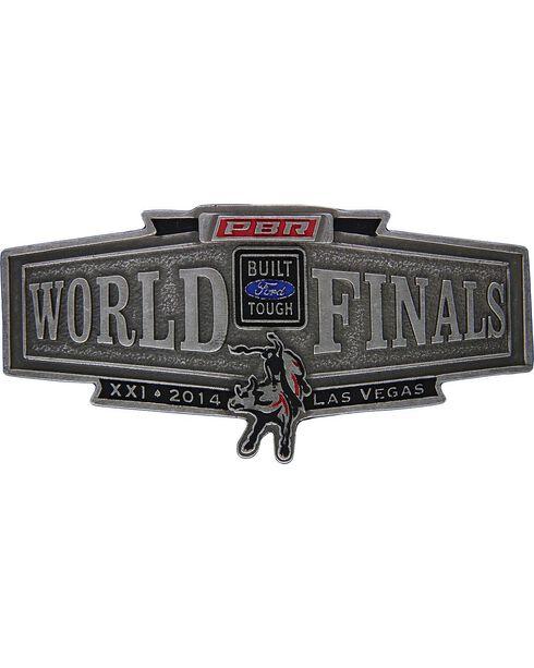 Montana Silversmiths 2014 PBR World Finals Banner Buckle, Silver, hi-res