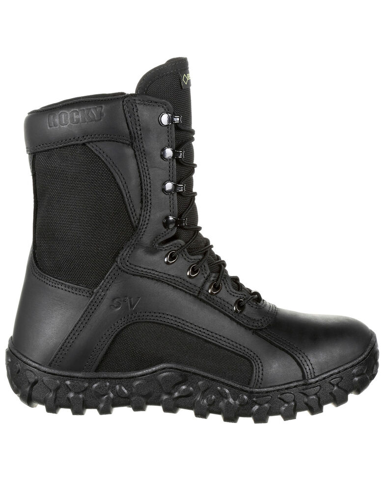 Rocky Men's Waterproof Insulated Tactical Military Boots - Round Toe, Black, hi-res