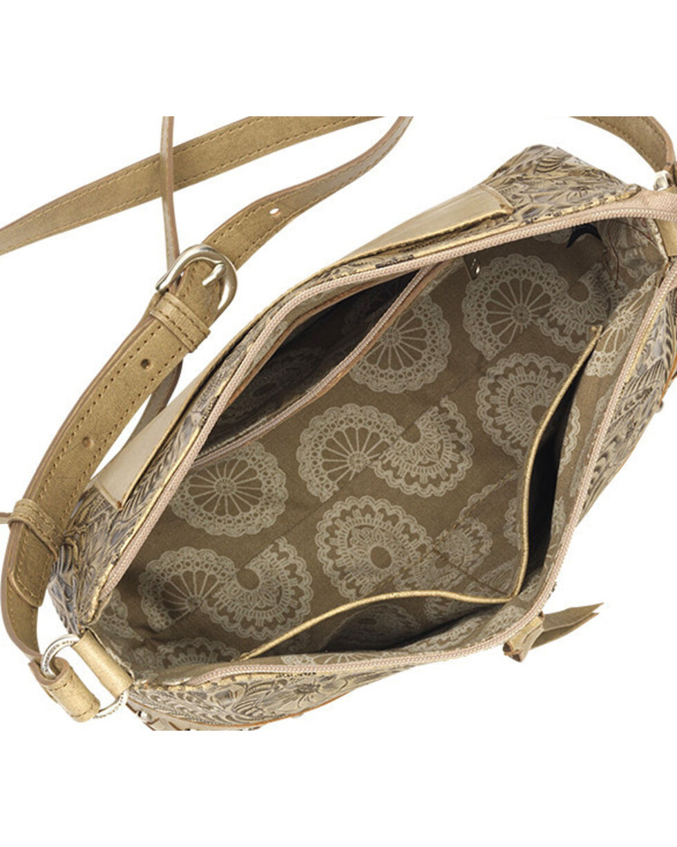 American West Women's Dove Canyon Crossbody Bag , Sand, hi-res