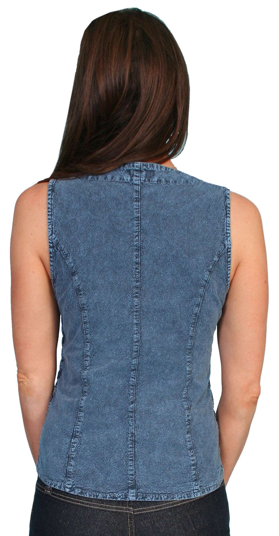 Scully Peruvian Cotton Laced Tank Top, Dark Blue, hi-res