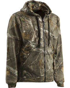 Berne Camouflage All Season Hooded Thermal Lined Zip Sweatshirt, Camouflage, hi-res