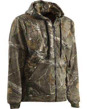 Berne Camouflage All Season Hooded Thermal Lined Zip Sweatshirt, Camouflage, hi-res