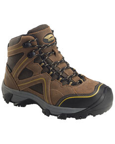 Avenger Women's Crosscut Waterproof Work Boots - Steel Toe, Brown, hi-res
