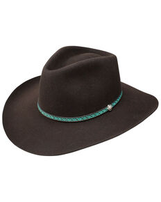 Resistol Men's 3X Channing Western Felt Hat , Brown, hi-res