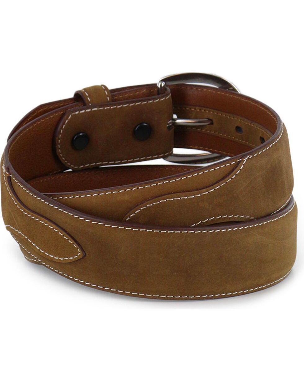 Cody James Men's Western Overlay Belt, Brown, hi-res