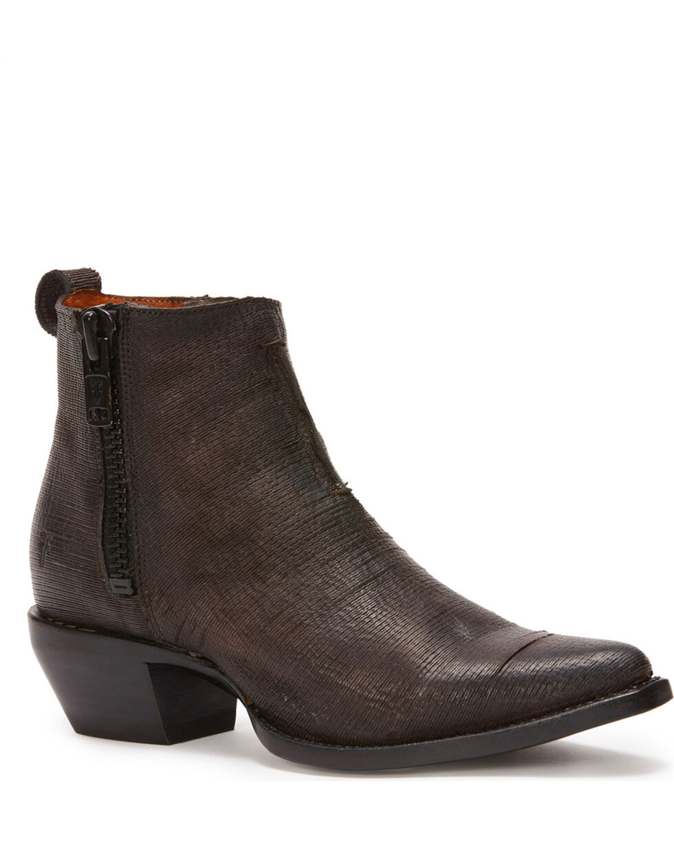 Frye Women's Charcoal Sacha Moto Shortie Booties - Pointed Toe , Dark Grey, hi-res