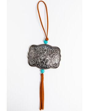 BB Ranch Belt Buckle Ornament, Silver, hi-res