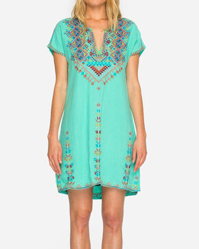 Johnny Was Women's Velsia Easy Tunic Dress, Green, hi-res