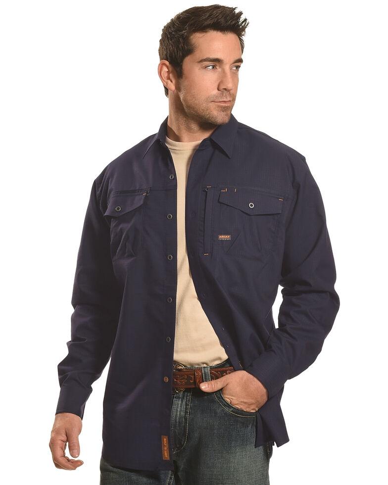 Ariat Men's Long Sleeve Work Shirt , Navy, hi-res