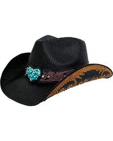e3ddaca0633 Peter Grimm Womens Black Salona Cowgirl Hat