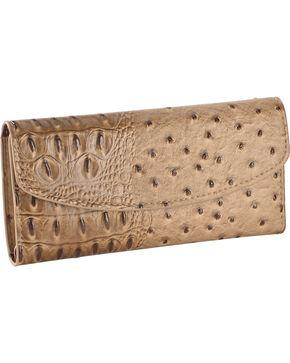 Wear N.E. Wear Women's Ostrich Print Wallet, Beige/khaki, hi-res