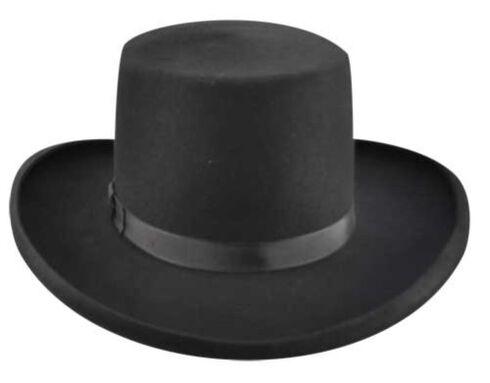 Bailey Western Dillinger Flat Top Hat, Black, hi-res