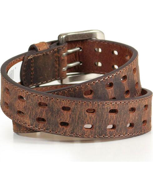 Cody James Boys' Crackle Leather Belt, Brown, hi-res