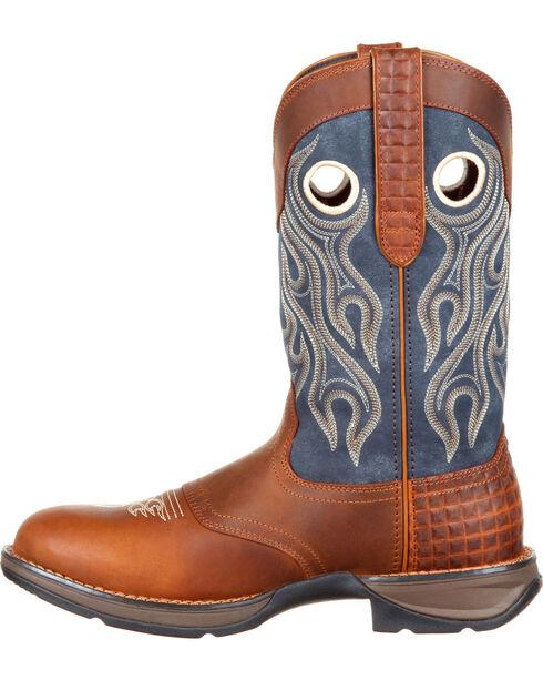 Durango Men's Brown Saddle Western Boots - Round Toe , Brown, hi-res