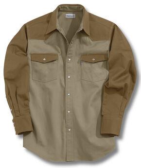 Carhartt Ironwood Twill Work Shirt - Big & Tall, Brown, hi-res