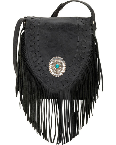 American West Seminole Collection Soft Fringe Crossbody Bag, , hi-res