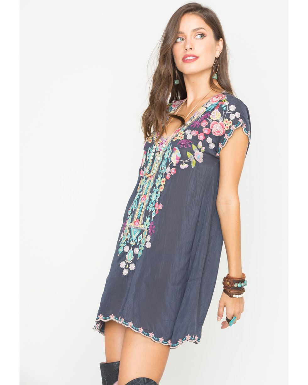 Johnny Was Women's Graphite Petunia Tunic, Grey, hi-res