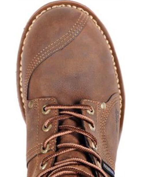 "Carolina Men's 10"" Brown Waterproof Linesman Boots - Round Toe, Brown, hi-res"