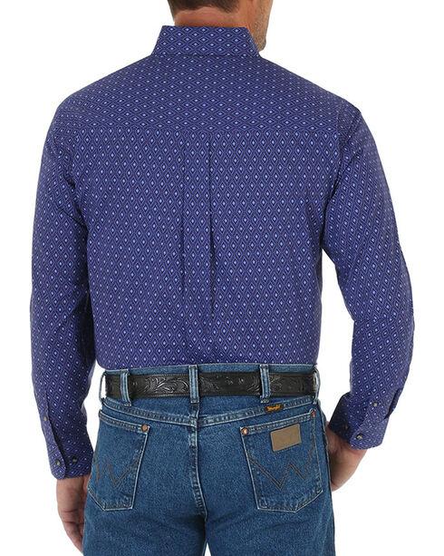 Wrangler Men's Diamond Printed Long Sleeve Shirt, Purple, hi-res
