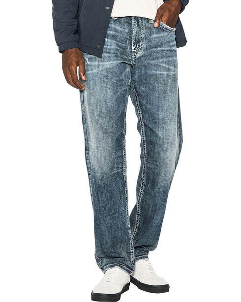Silver Men's Indigo Eddie Relaxed Fit Jeans - Straight Leg , Indigo, hi-res